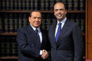 PdL - Conferenza stampa di Berlusconi e Alfano